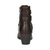 Hnedá kožená obuv s prešitím gabor, hnedá, 616-4123 - 15