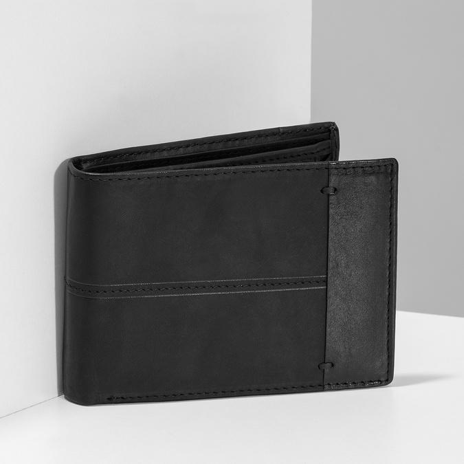 Pánska kožená peňaženka bata, čierna, 944-6188 - 17