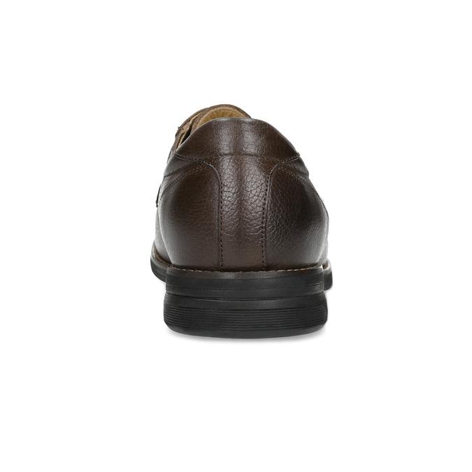 Ležérne hnedé kožené poltopánky comfit, hnedá, 824-4973 - 15