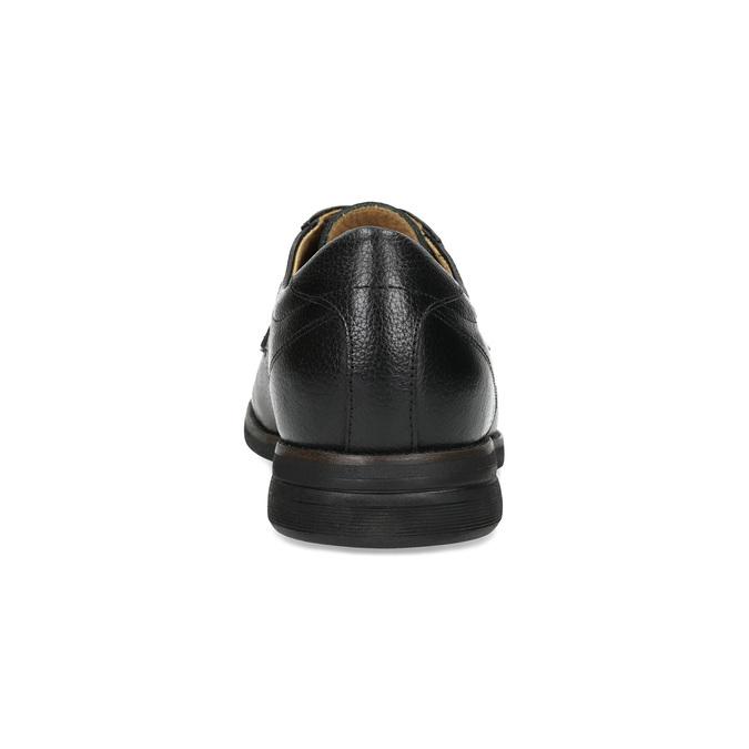 Derby ležérne kožené poltopánky comfit, čierna, 824-6974 - 15