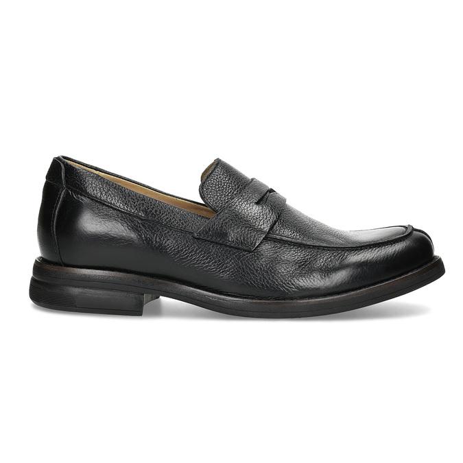 Kožené čierne Penny Loafers mokasíny comfit, čierna, 814-6627 - 19