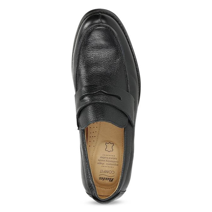 Kožené čierne Penny Loafers mokasíny comfit, čierna, 814-6627 - 17