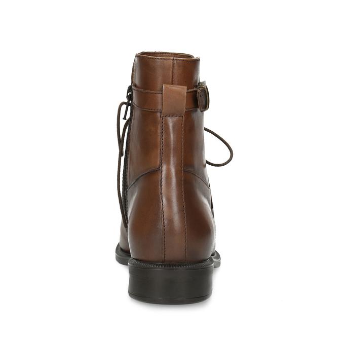 Dámske hnedé kožené čižmy bata, hnedá, 594-4674 - 15
