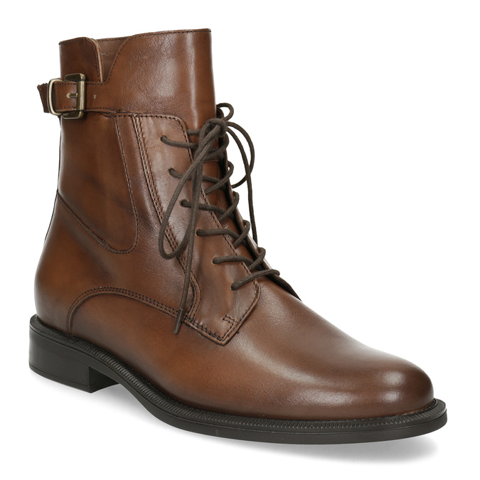Dámske hnedé kožené čižmy bata, hnedá, 594-4674 - 13