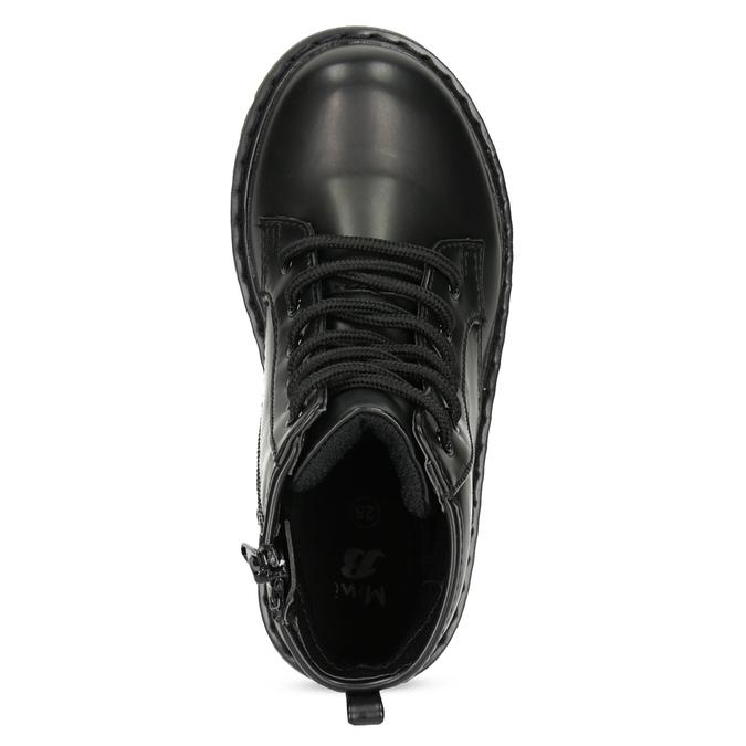 Chlapčenská čierna členková obuv mini-b, čierna, 291-6407 - 17