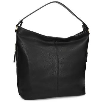 Čierna dámska kabelka v Hobo štýle bata, čierna, 961-6921 - 13