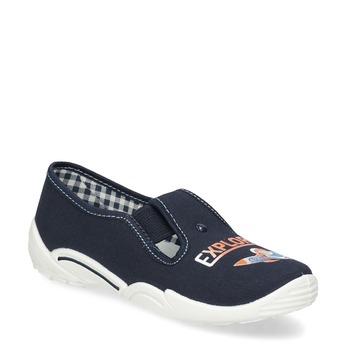 Detská domáca obuv s motívom rakety mini-b, modrá, 379-9219 - 13
