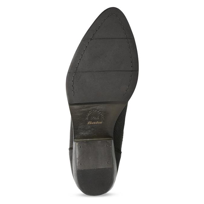 Dámska hnedá členková obuv s pružením bata, hnedá, 596-4969 - 18