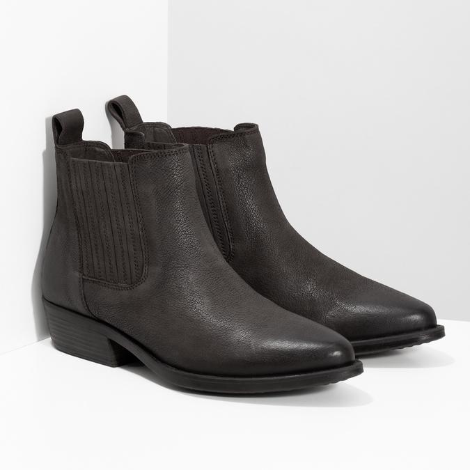Dámska hnedá členková obuv s pružením bata, hnedá, 596-4969 - 26