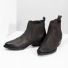 Dámska hnedá členková obuv s pružením bata, hnedá, 596-4969 - 16