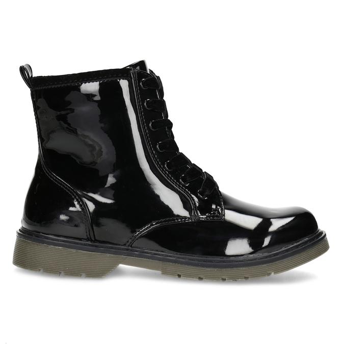 Dievčenská čierna lesklá členková obuv mini-b, čierna, 391-6259 - 19