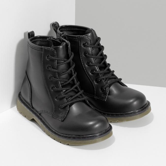 Chlapčenská čierna členková obuv mini-b, čierna, 291-6407 - 26