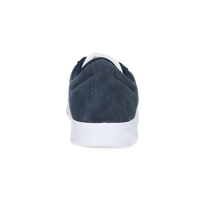 Pánske tenisky z brúsenej kože adidas, modrá, 803-9379 - 15