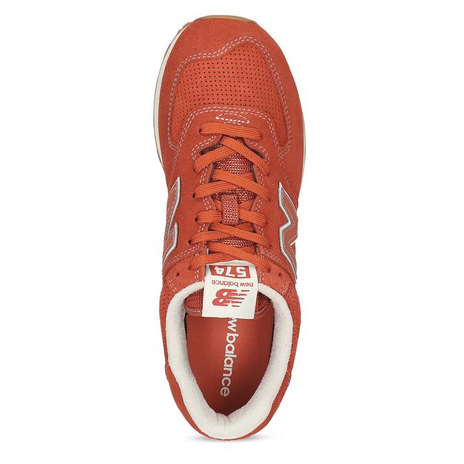 Červené pánske športové tenisky new-balance, oranžová, 803-5174 - 17
