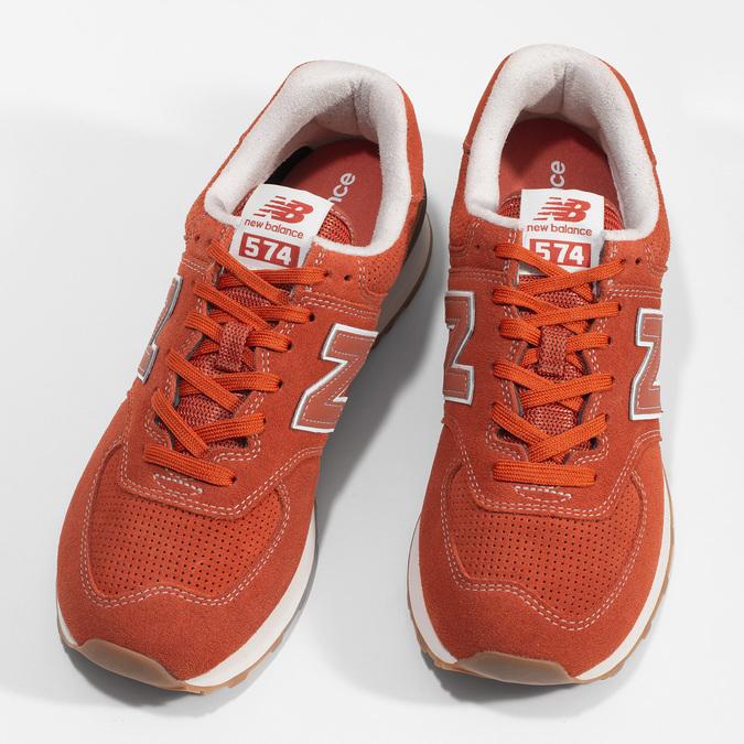 Červené pánske športové tenisky new-balance, oranžová, 803-5174 - 16