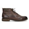Členková pánska obuv s viazaním bugatti, hnedá, 826-4056 - 19