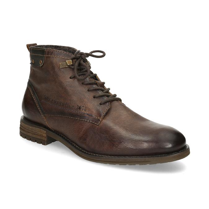 Členková pánska obuv s viazaním bugatti, hnedá, 826-4056 - 13