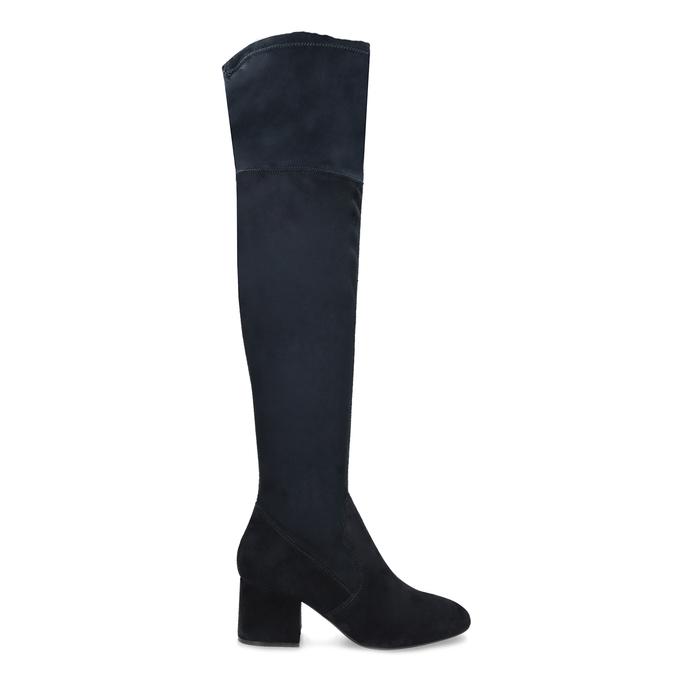 Modré dámske čižmy nad kolená bata, modrá, 793-9614 - 19