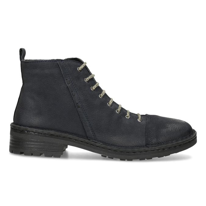 Kožená dámska členková obuv bata, modrá, 596-9709 - 19