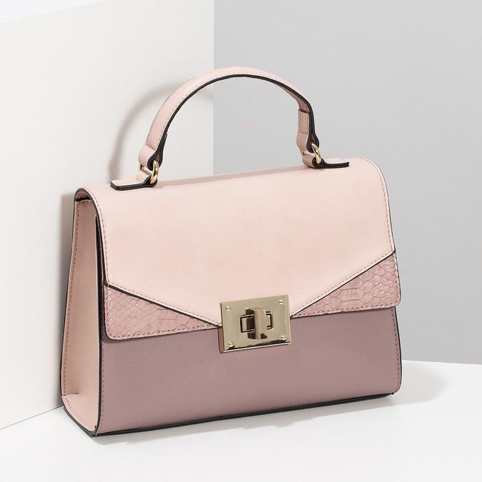 Staroružová dámska kabelka bata-red-label, ružová, 961-9892 - 17