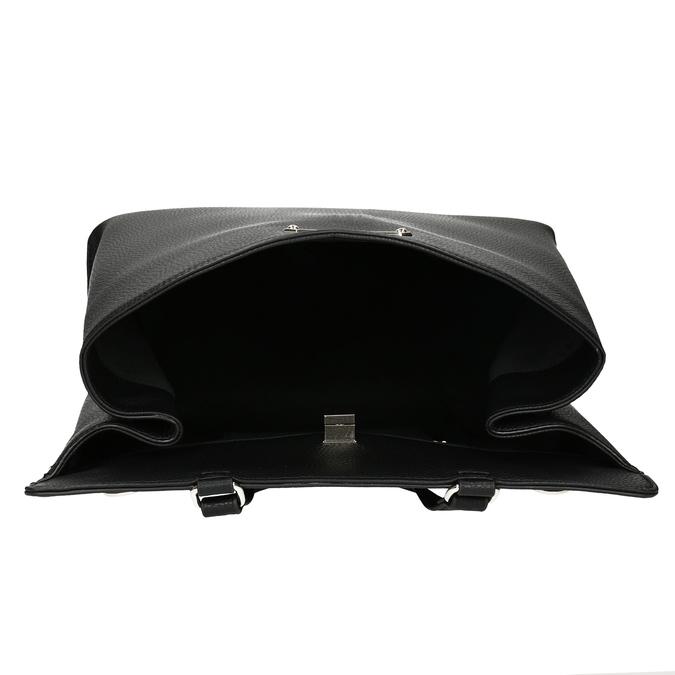 Čierna kabelka s mašľou bata-red-label, čierna, 961-6896 - 15