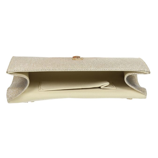 Zlatá dámska listová kabelka bata, zlatá, 969-8701 - 15