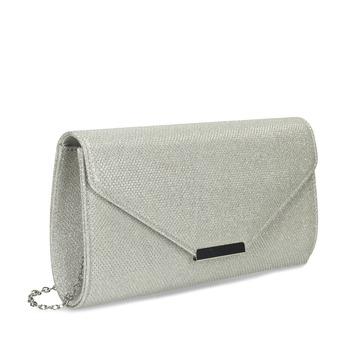 Strieborná dámska listová kabelka bata, strieborná, 969-1701 - 13