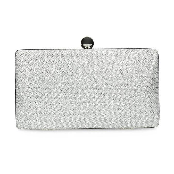 Strieborná listová kabelka pevného tvaru bata, strieborná, 969-1702 - 26