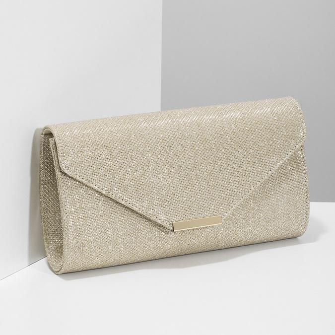 Zlatá dámska listová kabelka bata, zlatá, 969-8701 - 17