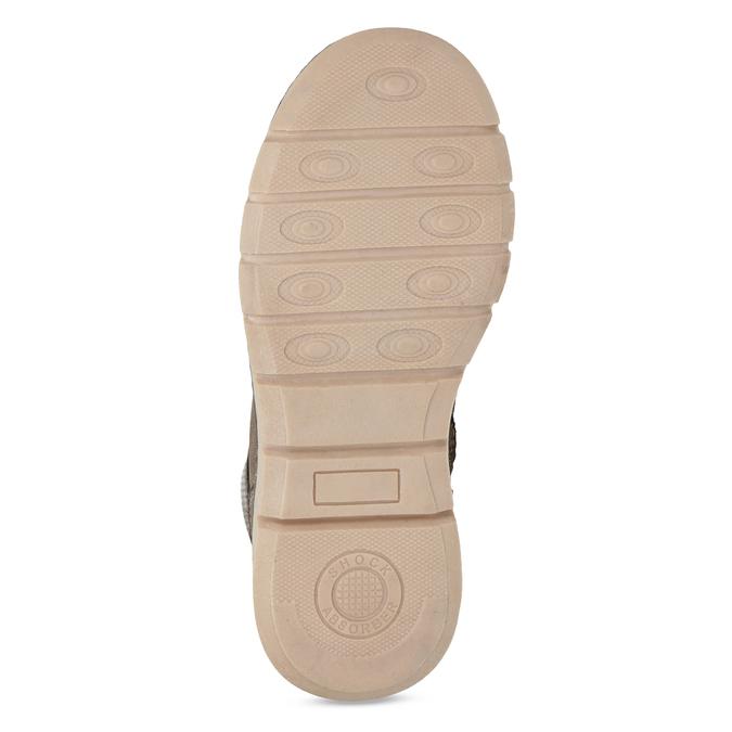 Hnedá detská členková obuv na zips mini-b, hnedá, 311-4614 - 18