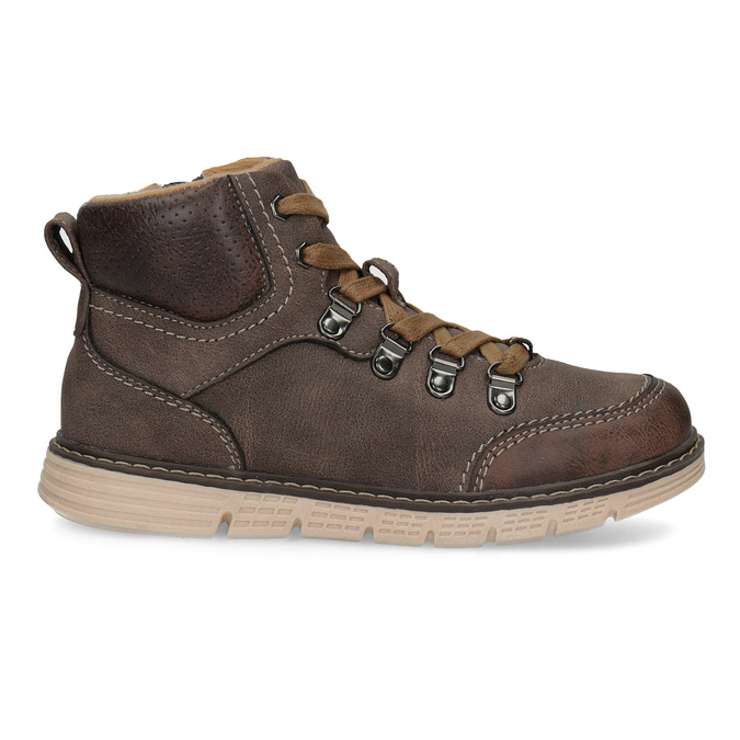 Hnedá detská členková obuv na zips mini-b, hnedá, 311-4614 - 19