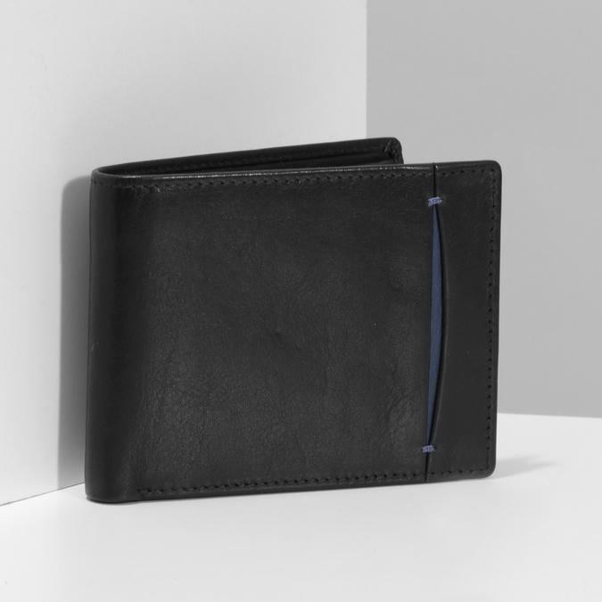 Čierno-modrá kožená peňaženka bata, čierna, 944-6224 - 17