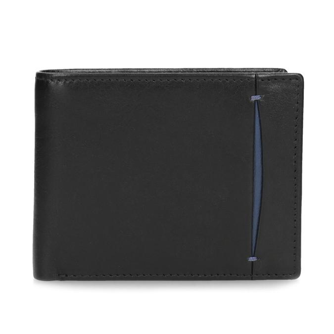 Čierno-modrá kožená peňaženka bata, čierna, 944-6224 - 26
