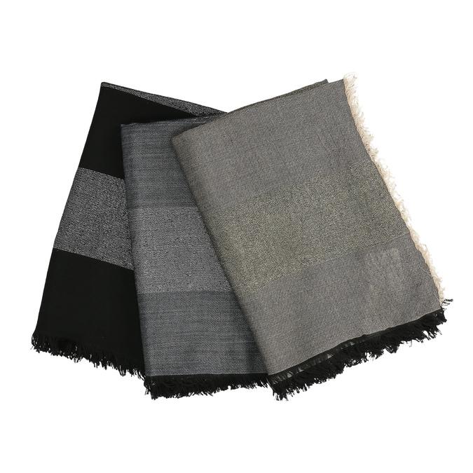 Dámsky dvojfarebný šál so strapcami bata, viacfarebné, 909-0701 - 13