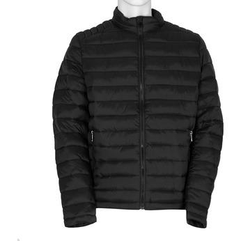 Pánska čierna bunda s prešitím bata, čierna, 979-6369 - 13