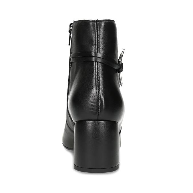 Kožená dámska členková obuv bata, čierna, 694-6665 - 15