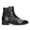Dámske kožené čižmy s prackou bata, čierna, 594-6672 - 19