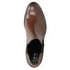 Kožené dámske Chelsea na podpätku bata, hnedá, 694-4667 - 17