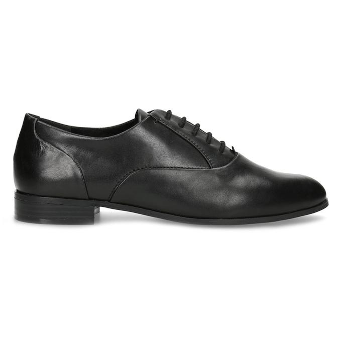 Dámske kožené čierne Oxfordky bata, čierna, 524-6668 - 19