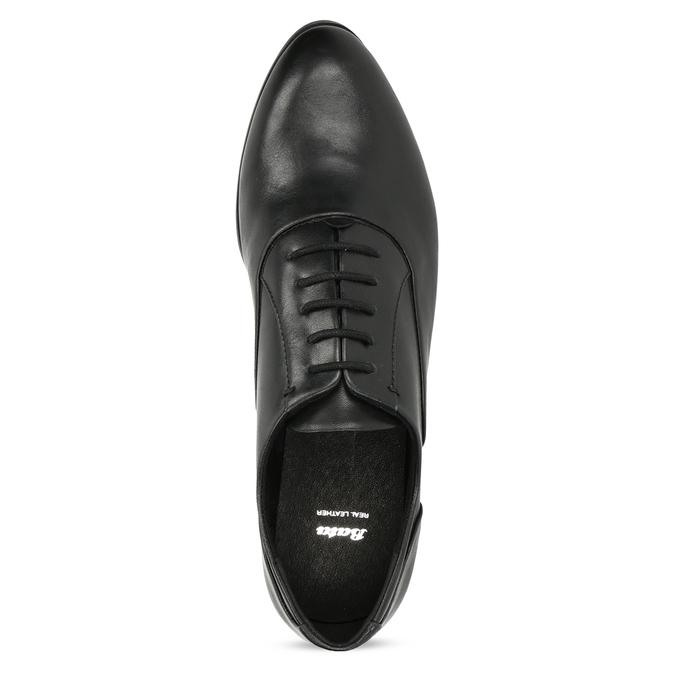 Dámske kožené čierne Oxfordky bata, čierna, 524-6668 - 17