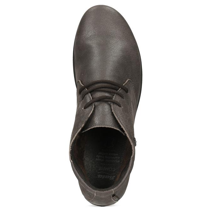 Dámska kožená členková obuv comfit, hnedá, 596-4707 - 17