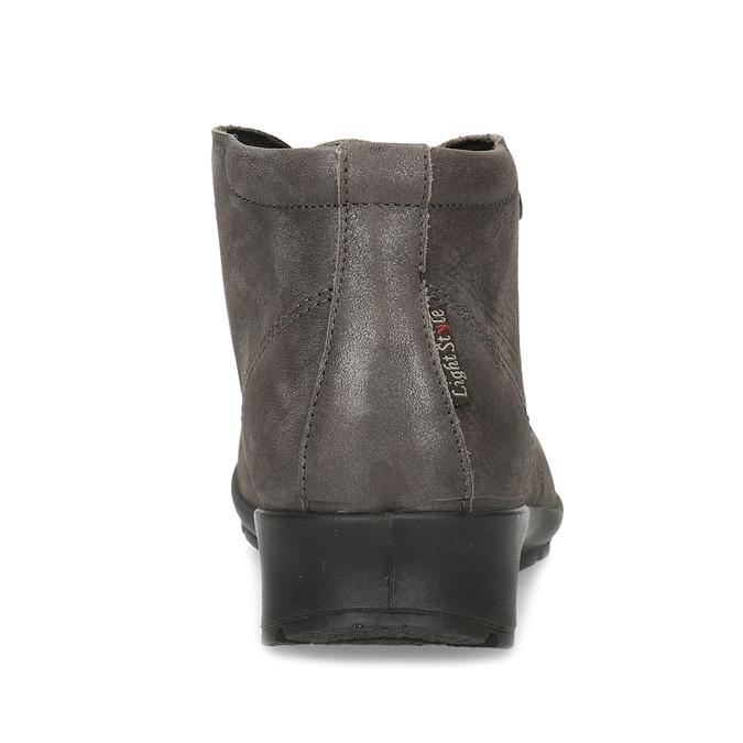 Dámska kožená členková obuv comfit, hnedá, 596-4707 - 15