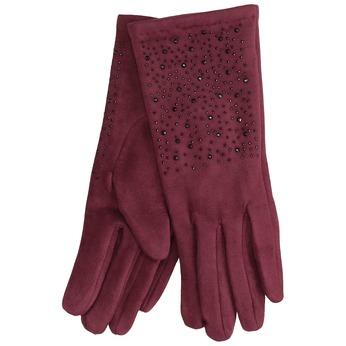 Vínové rukavice s kamienkami bata, červená, 909-5692 - 13