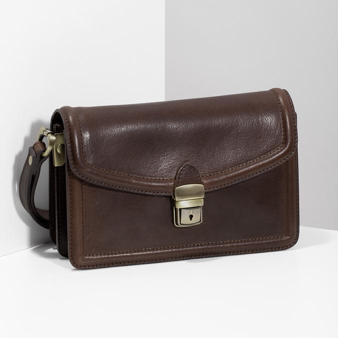 Kožená pánska taška do ruky bata, hnedá, 964-4315 - 17