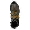 Zimná vysoká kožená členková obuv bata, šedá, 896-2737 - 17