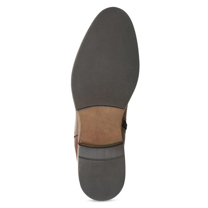 Hnedé kožené čižmy bata, hnedá, 594-4637 - 18
