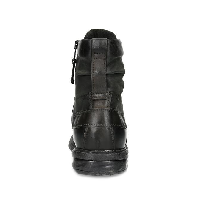 Čierna pánska kožená členková obuv bata, čierna, 896-6743 - 15