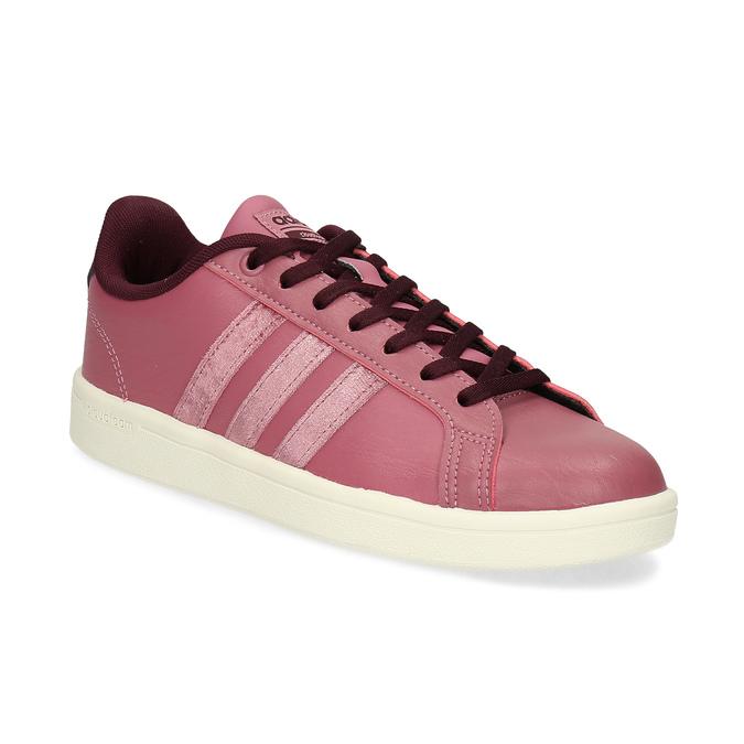 Ružové dámske ležérne tenisky adidas, červená, 501-5101 - 13