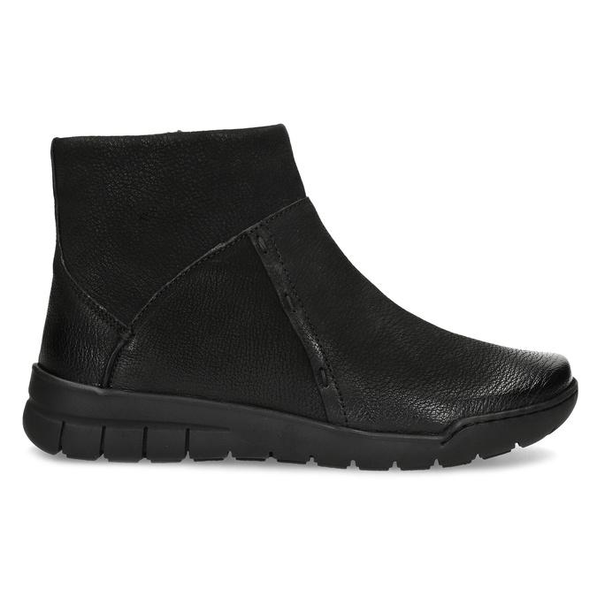 Kožená dámska členková obuv bata, čierna, 596-6706 - 19