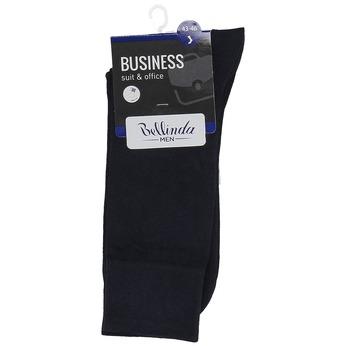 Pánske čierne vysoké ponožky bellinda, modrá, 919-9700 - 13